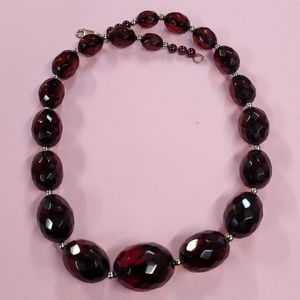 """Early Cherry Amber 19"""" Necklace SP1"""